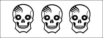 Vector skull lovely alternative material
