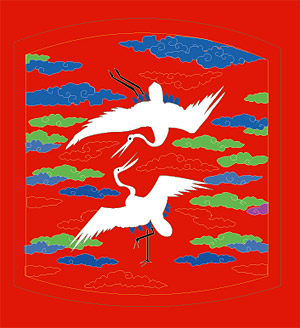 Classical Chinese auspicious crane map