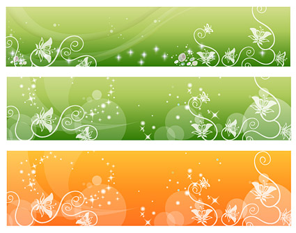 Vector fantasy background material - fashion pattern