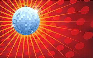 Vector material crystal ball disco