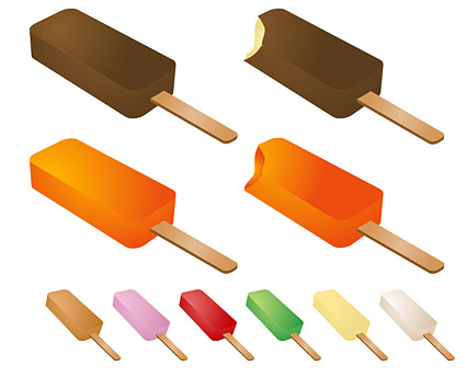 Summer popsicles vector material