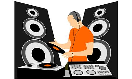 DJ music equipment vector material