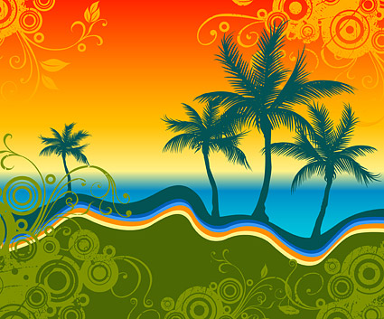 Vector patterns and sea palm