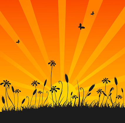 Vector material beauty of the sunset