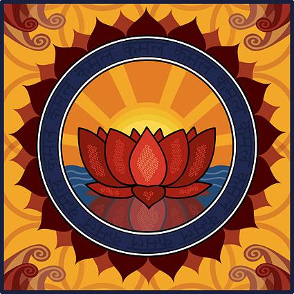 Lotus logo theme vector material