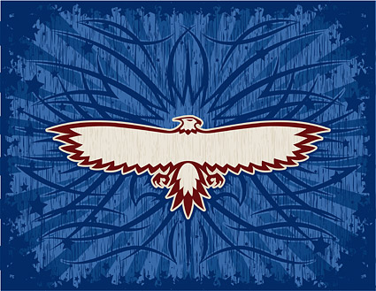 Vector material eagle totem