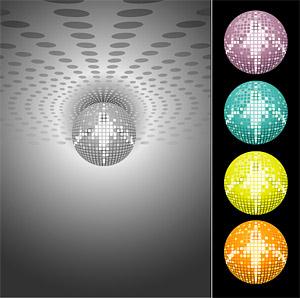 Disco laser crystal ball