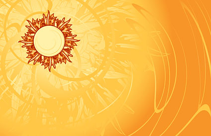 Hot! Sun and the beautiful background material vector