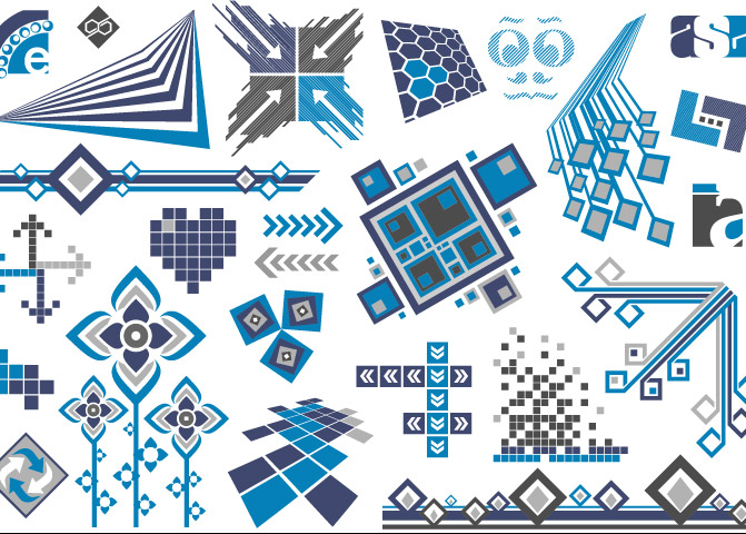 Vector trend of design elements-44