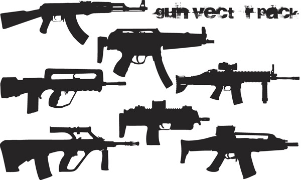 Vector trend of design elements - guns in Pictures