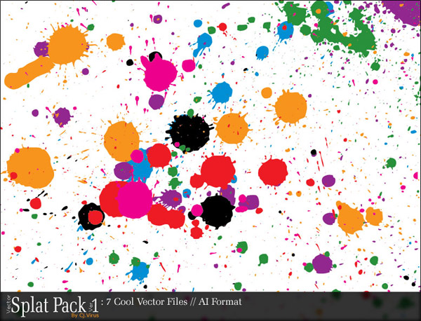 Vector trend of design elements - color ink