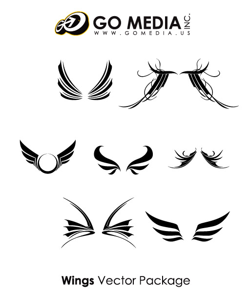 Go Media produced vector material - cool wings-1