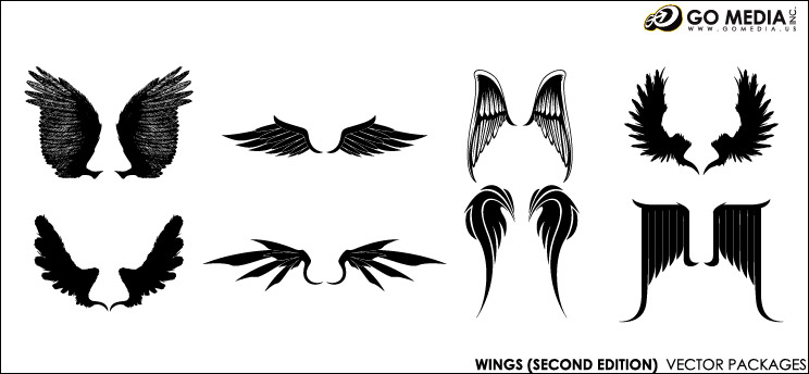 Go Media produced vector material - cool wings-2
