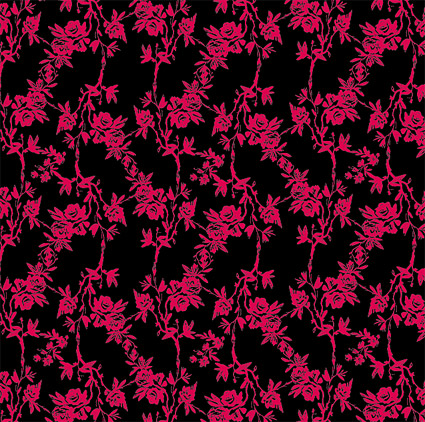 Vector rose pattern design fashion