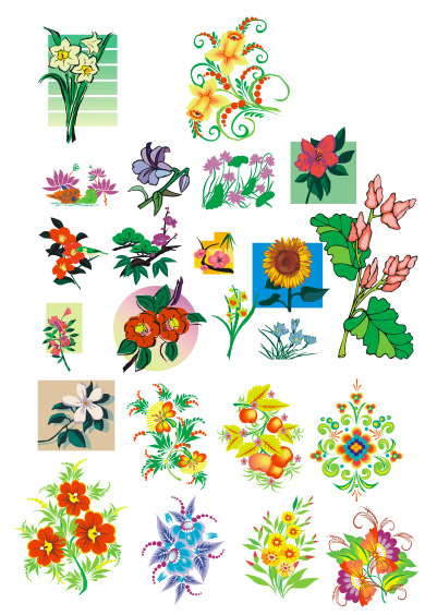 Lotus, and other patterns Vector