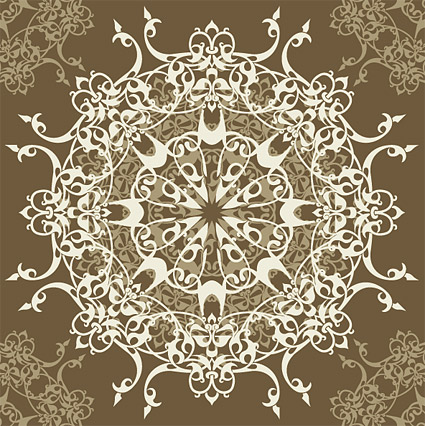 Continental pattern vector material