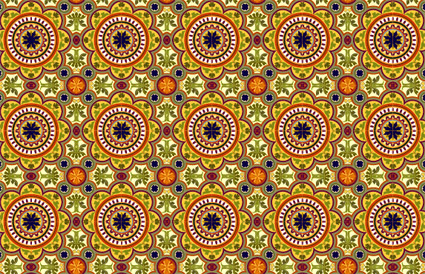 Classic tile pattern vector-1