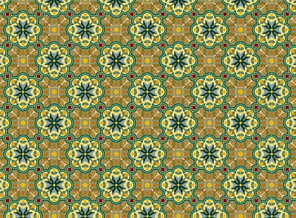 Classic tile pattern vector-2