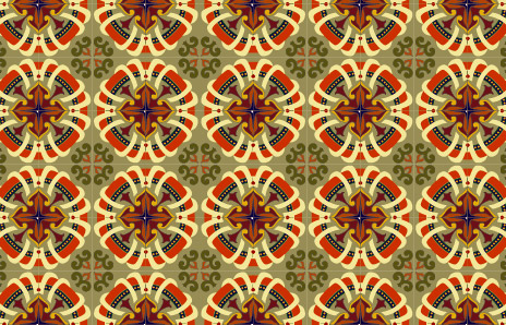 Classic tile pattern vector-4