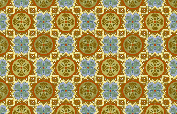 Classic tile pattern vector-5