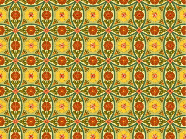 Classic tile pattern vector-8