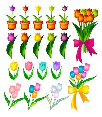 Vector material tulip