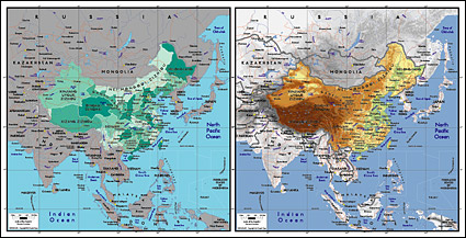 Vector map of the world exquisite material - the Chinese map