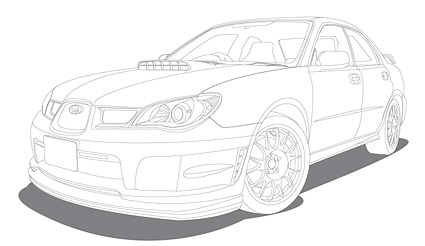 Line drawing vehicle (car)