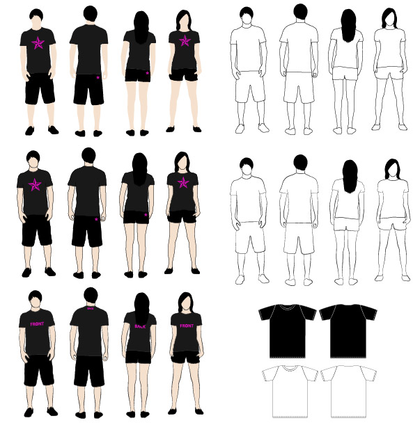 T-Shirt vector model material