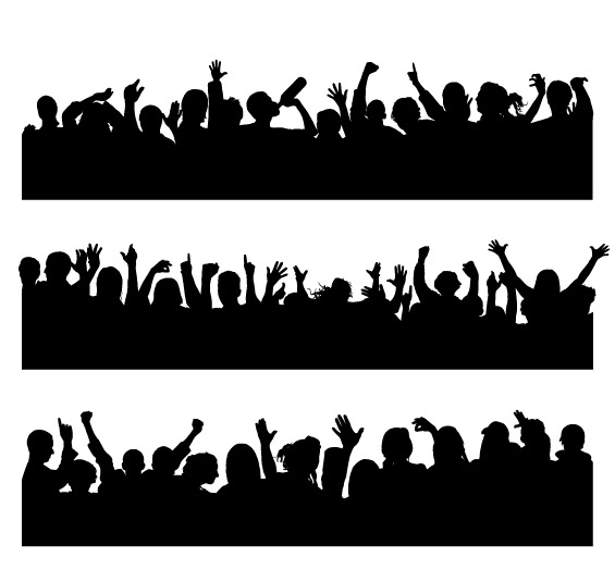 Pictures of people cheered vector material