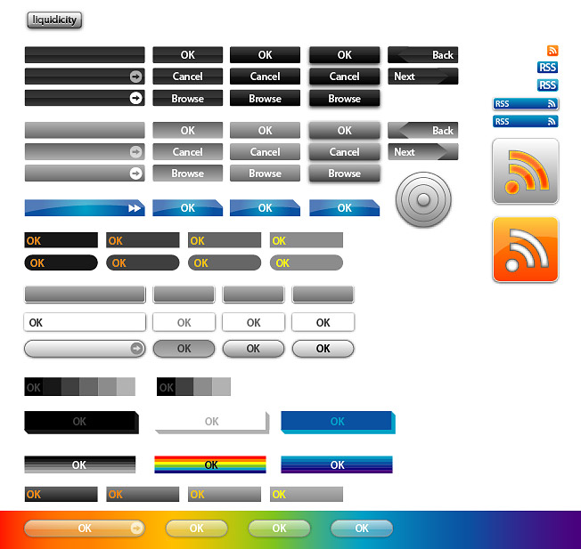 Web Design button vector case material
