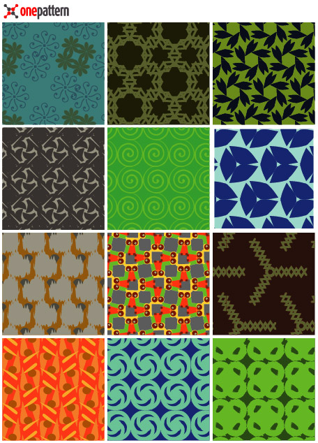 Vector tiled background