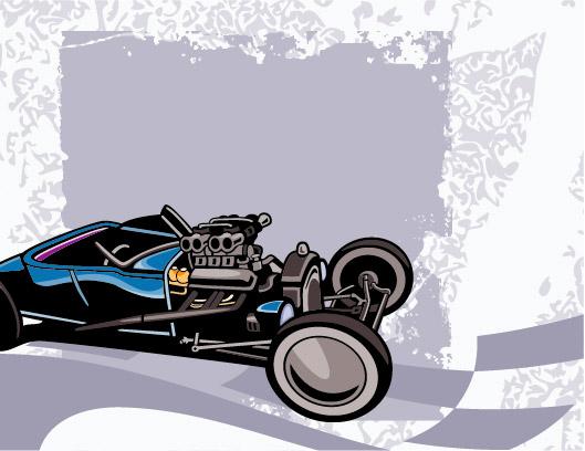 Karting vector material