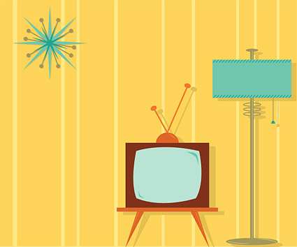 TV cartoons such as interior decoration material vector