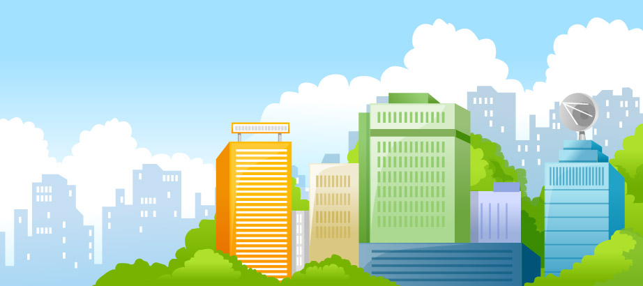 Beautiful city scenery vector -2