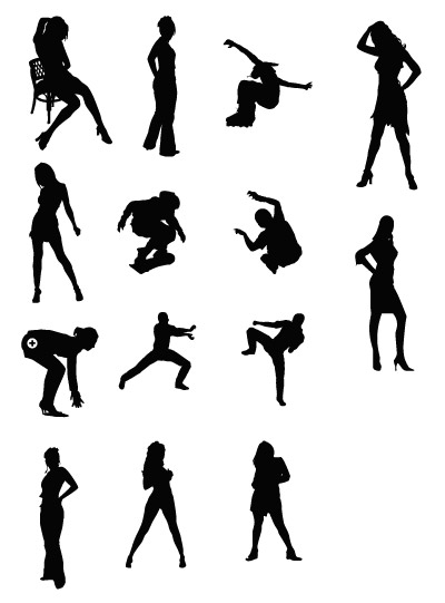 Women and sports figures Vector