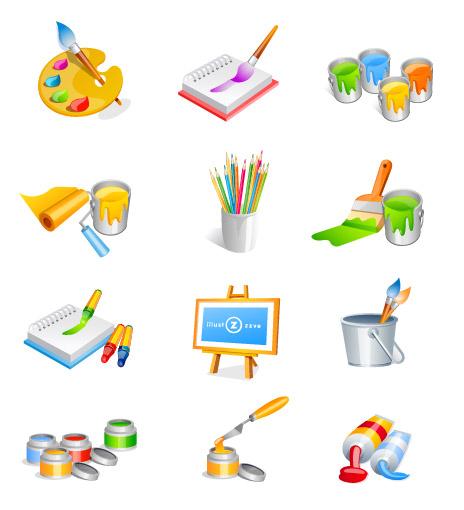 Design art supplies category vector