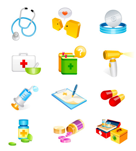 Medical, hospital supplies vector icon