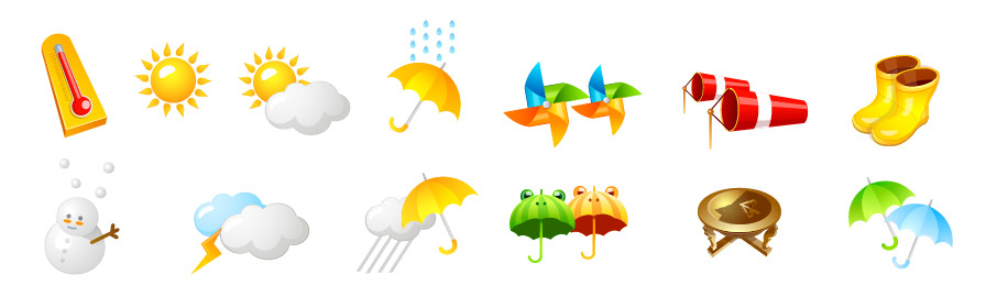 Weather category vector icon
