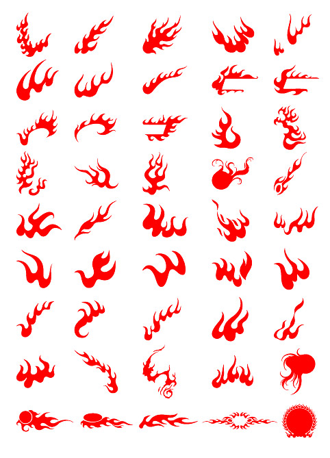 Vector designs of various fire
