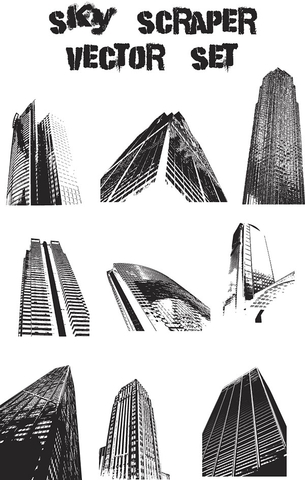 Vector of modern high-rise buildings