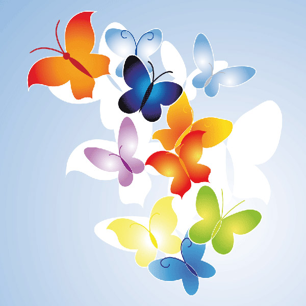 Fashion vector butterfly logo