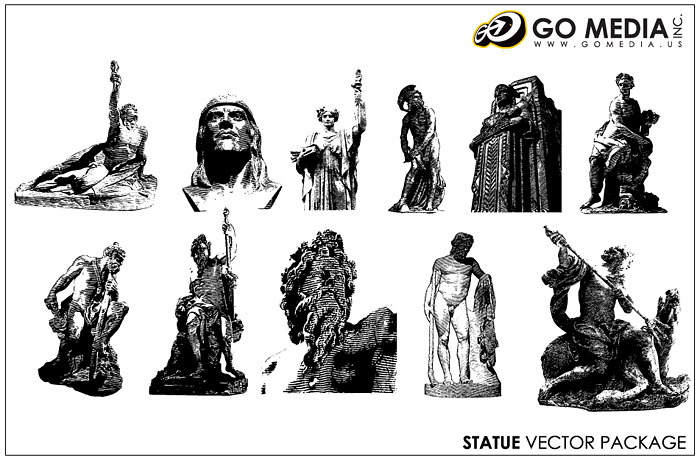 Go Media produced vector material - sculptures
