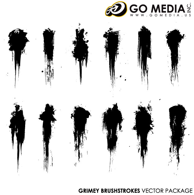 Go Media Vector material products - the ink brush-1