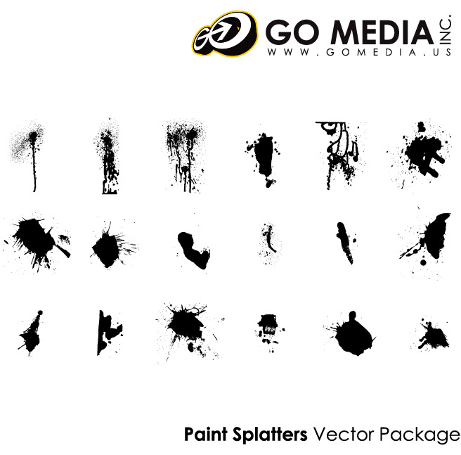 Go Media Vector material products - the ink brush-2
