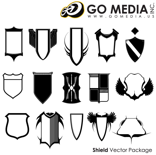 Go Media produced vector material - Shield