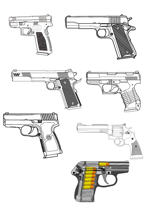 Military-related - pistol vector material