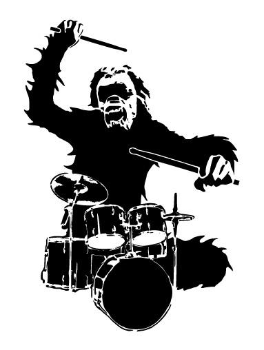 Orangutan drummer Vector