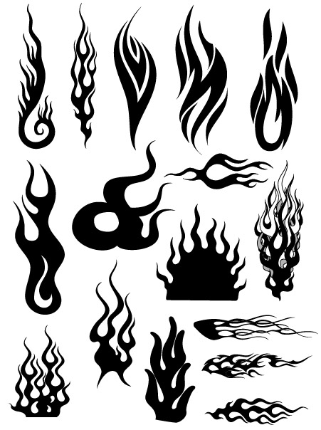 All kinds of cool fire vector logo (4)