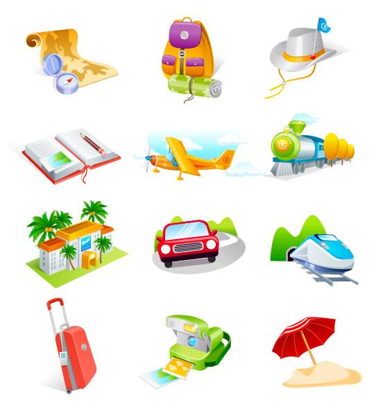 Travel goods vector icon